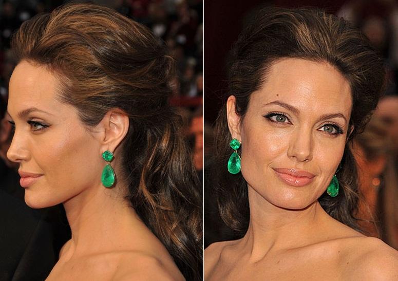 Angelina Jolie Hair Styles: Wedding Day Hairstyles