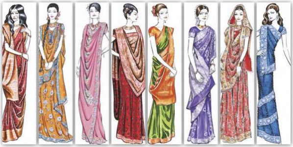 saree draping styles from left to right devdas style maharani style
