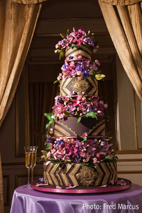floral chocolate cake