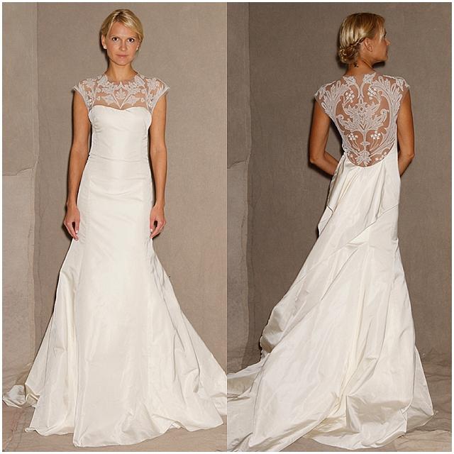 Wedding dress portrait back