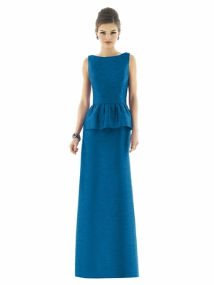 Alfred Sung peplum skirt long dress