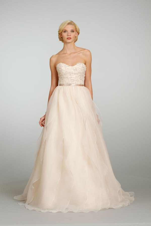 Jim-Hjelm Bridal Gown in blush Spring 2013