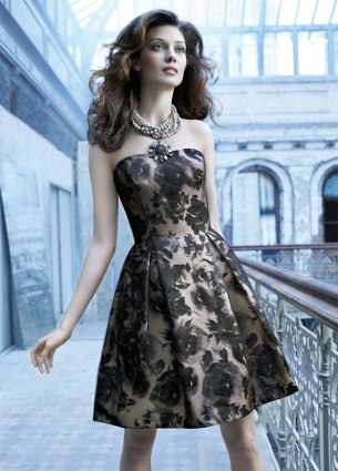 noir by lazaro printed floral dress