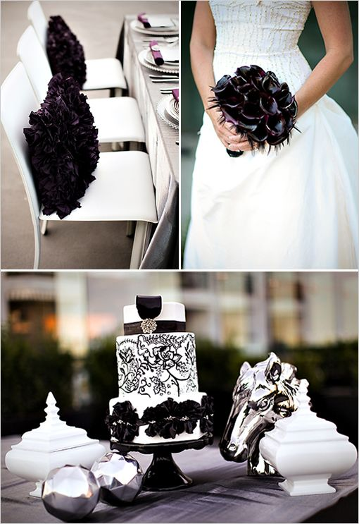 Classic black and white weddings bridal blog ideas for your black white themed wedding below ac665760958c5dcf5a85a0dd83678756 junglespirit Choice Image