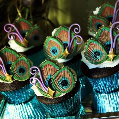 peacock cupcakes!