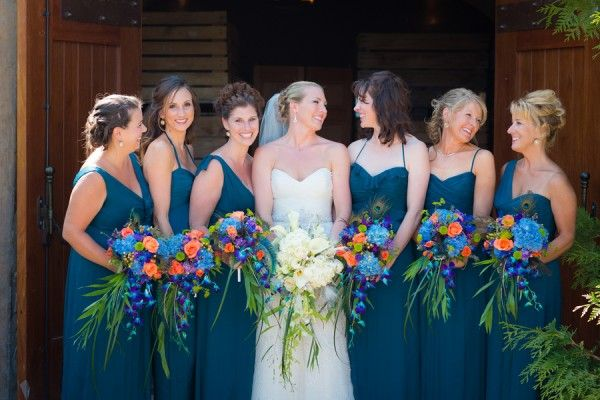 Peacock Blue Bridesmaid Dresses - Gown And Dress Gallery