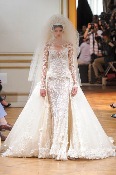 zuhair murad couture wedding gown