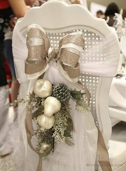 holiday chair decor for  wedding