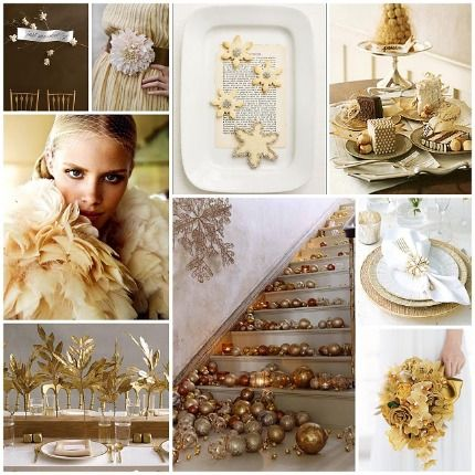 holiday gold wedding