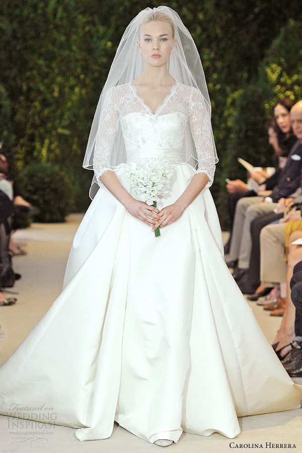carolina-herrera-wedding-dresses-spring-2014-annemarie-sleeve-ball-gown