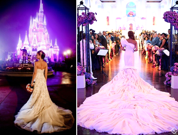 Fairytale-Weddings-Dresses-Disney-Disneyland-Drama-Purple-Lights-Train-Gowns-Bridal-Fashion-Designer-Jewelry-Kendra-Scott