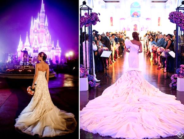 Purple wedding reception area ideas