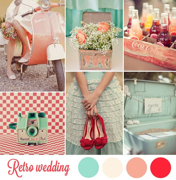 retro style weddings