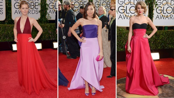 golden globes two tone gowns