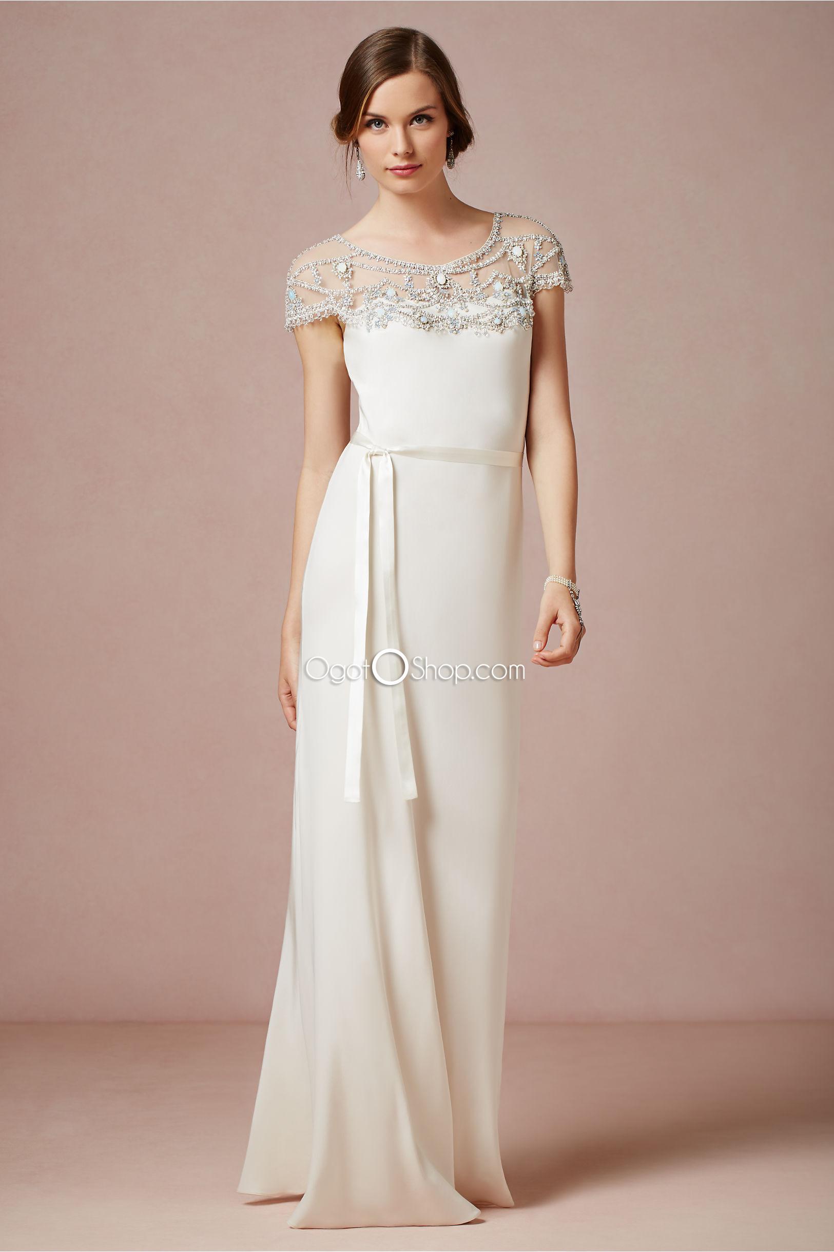 Jeweled Neckline Wedding Dresses
