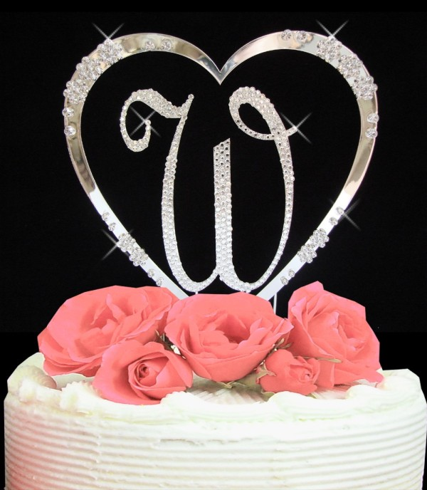 completely_covered_swarovski_crystal_initial_french_flower_heart_cake_topper
