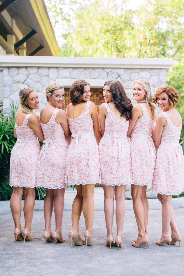 Lace Bridesmaid Dresses Bridal Blog