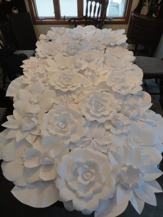 How To Make Wall Decoration With Paper Flowers : Giant paper flowers bridal