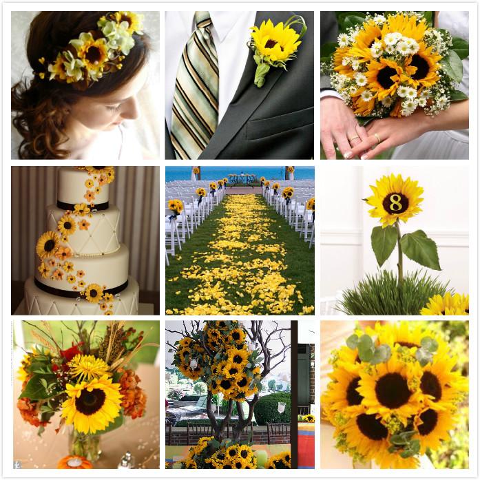 Sunflower Themed Weddings Bridal Blog