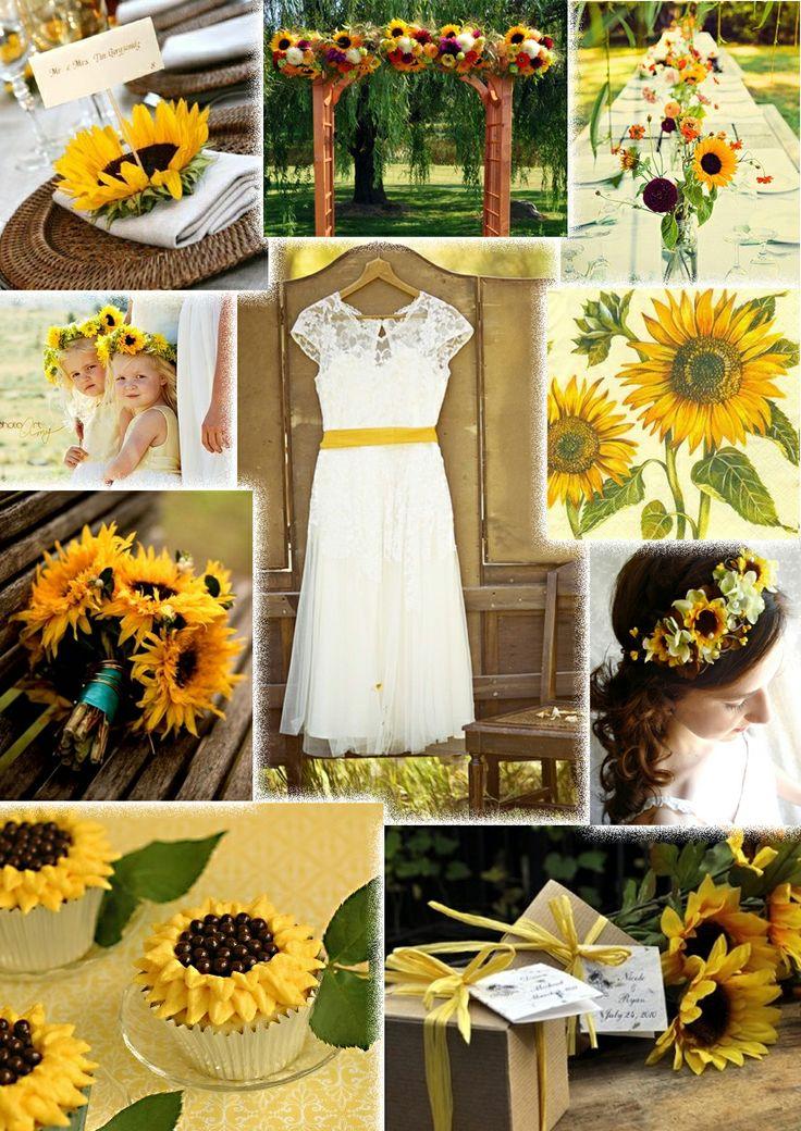 Sunflower Themed Weddings