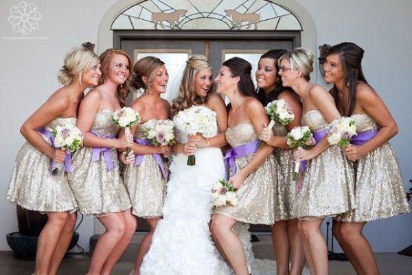 SEQUIN BRIDEMAIDS DRESSES 11