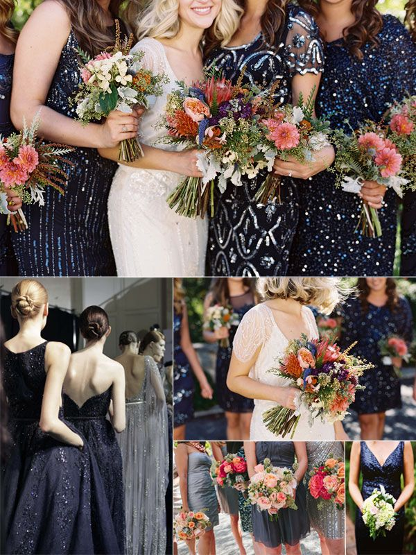SEQUIN BRIDEMAIDS DRESSES 1999