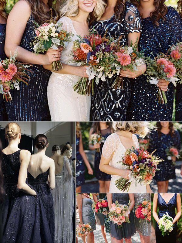 SEQUIN BRIDEMAIDS DRESSES 1999