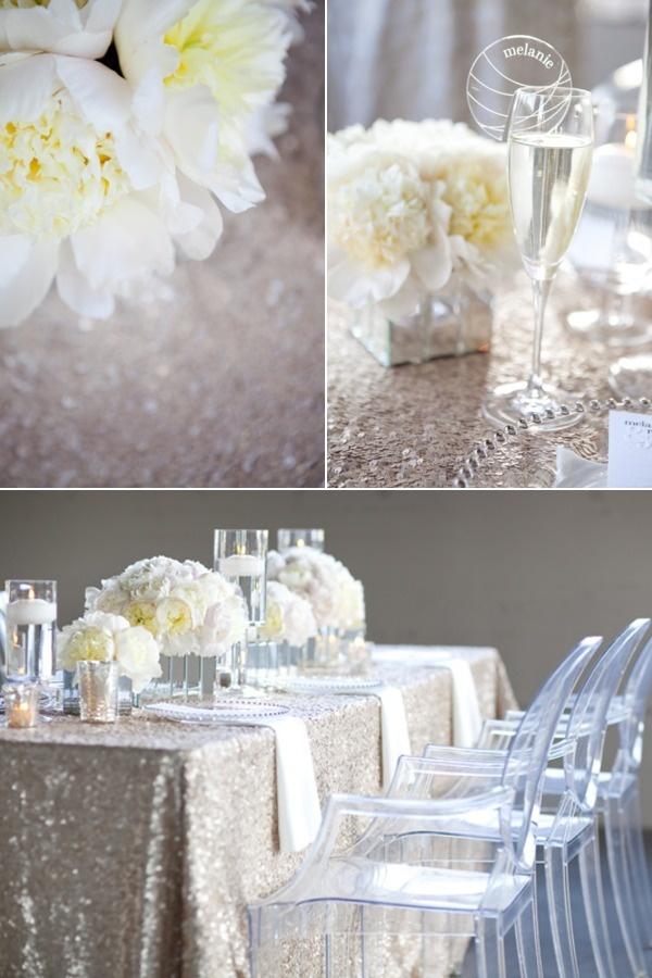 sequin wedding decor 7