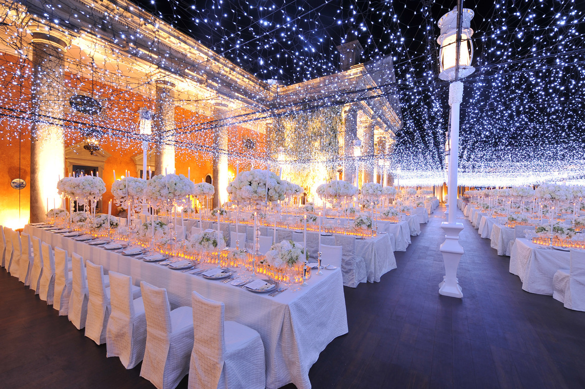 Fairy Lights Outdoor Weddings : Starry Night Wedding Inspiration  Bridal Blog